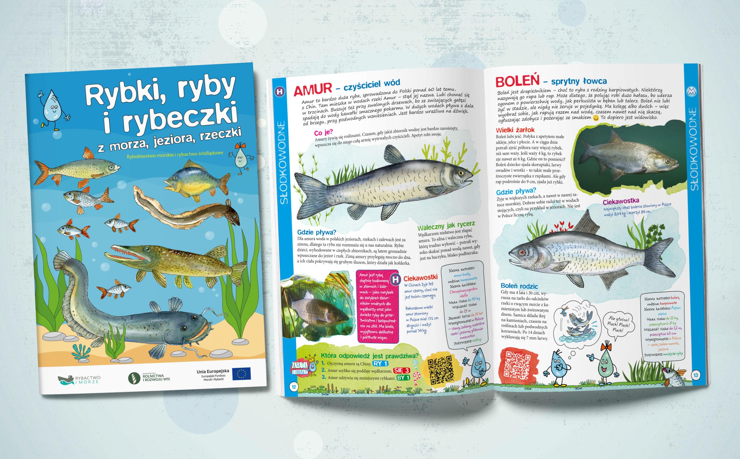 """You are currently viewing """"Rybki, Ryby i Rybeczki z morza, jeziora i rzeczki'"""" -książeczka edukacyjna"""