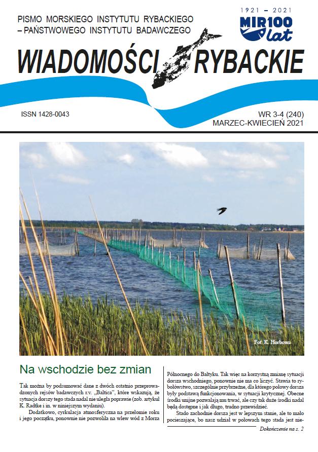 """Najnowsze wydanie """"Wiadomości Rybackich"""", NR 3-4 (240) • MARZEC-KWIECIEŃ 2021"""